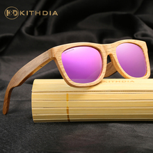 KITHDIA Polarized Wooden Sunglasses Men Bamboo Sun Glasses Women Brand Designer Original Wood Glasses Oculos de sol masculino