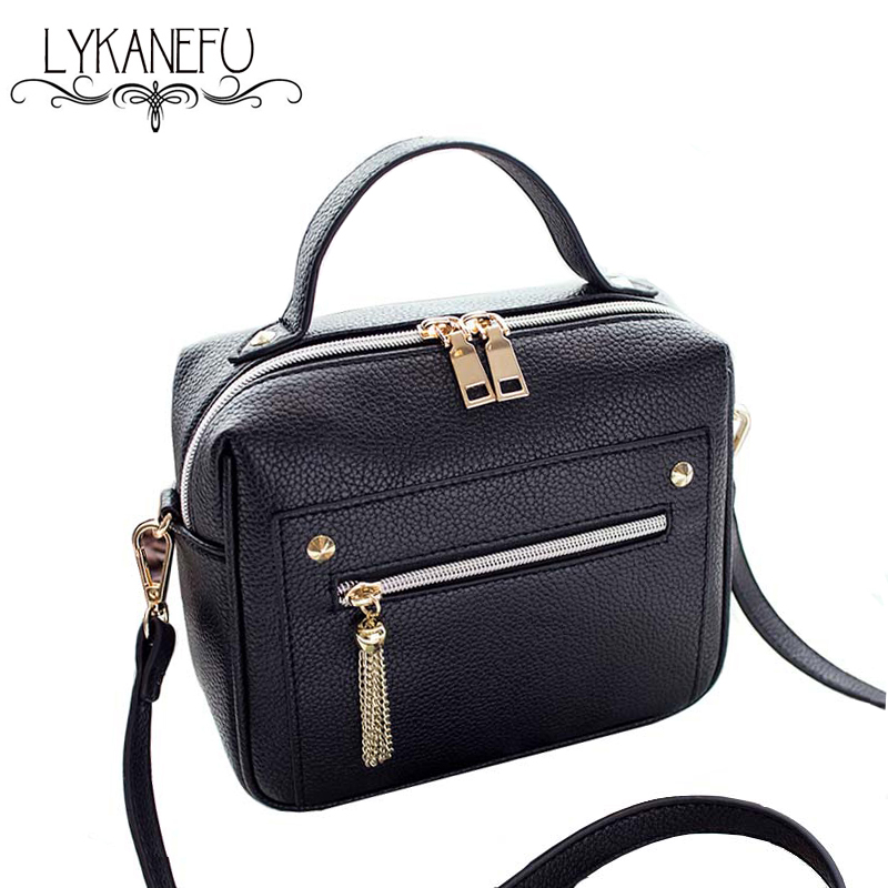 2017 Flap Bag Designer Women Messenger Bags PU Leather Small Crossbody Shoulder Bags Women Black Casual Handbag Tote Purse<br><br>Aliexpress