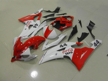 Injection Mold Fairing kit for YZFR6 08 09 10 11 12 YZF R6 2008 2009 2010 2012 YZF600 Fashion White red Fairings set+7gifts YG03