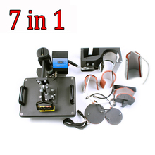 7 in 1 Combo heat transfer machine for t-shirt,mug,hat,plate printing DX-0901 sublimation transfer heat press machine