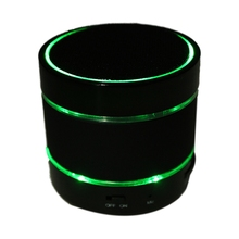 LED Bluetooth Stereo Speaker USB TF FM Radio sound box for iPhone6 / 5 black(China)