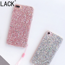 LACK Luxury Bling Glitter Phone cases For iPhone7 Fashion Candy colorful Shine Super Flexible Cover For iPhone 7 Plus Coque(China)