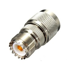 Alloy steel N Male Plug to UHF Female SO239 Jack Straight RF Coaxial Adapter Connector(China)