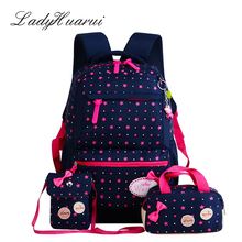 LadyHuarui New 3 Pcs/Set rucksack Girl School Bags For Teenagers backpack set women shoulder travel bags mochila knapsack Q2(China)