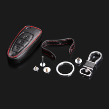 Car styling, latest leather key cover remote control cover for Ford Focus 3 Focus MK4 Ecosport Kuga Dust Collector