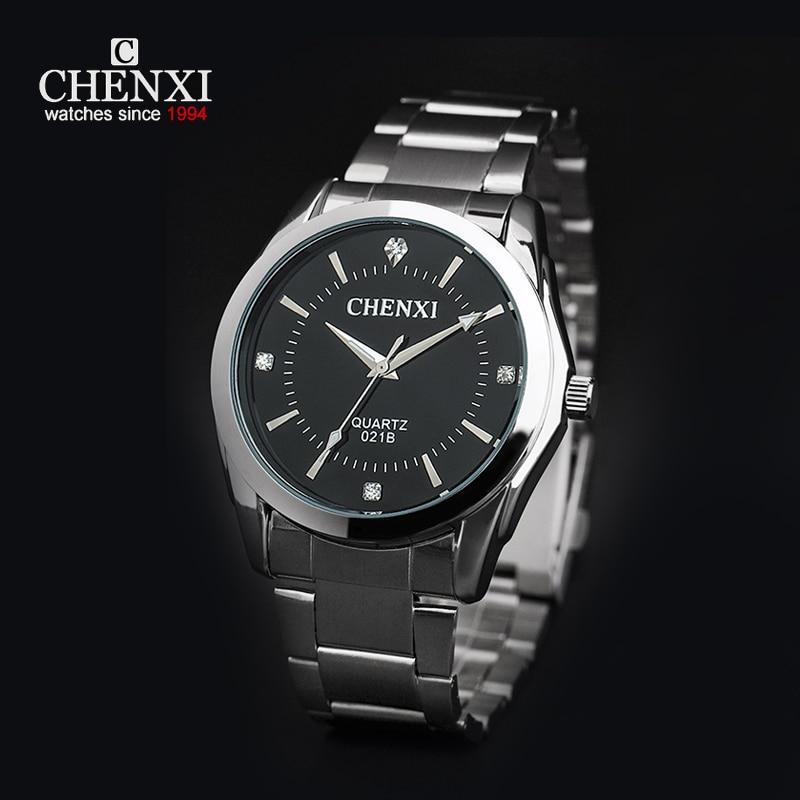 CHENXI Men And Women Dress Watches Business Fashion Luxury bracelet Steel Watch Unisex lovers Quartz Wrist Watch With Crystals<br>