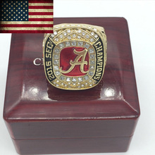 Newest 2016 Alabama Crimson Tide SEC Football Championship Rings For Fans, custom ring ,custom services,birthday gift.(China)