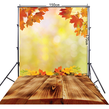 5x10ft(150*300cm) Autumn Leaves Yellow Photography Background For Pets Photos FF-033