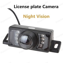 best selling IP68 NTSC / PAL Waterproof Short License plate Frame Reverse Camera 7 IR Lights Night Vision