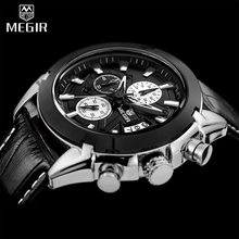 2017 Megir Men Watches Top Brand Luxury Chronograph Watches Men Hot Sport Quartz-Watch Male Whatch Waterproof Relogio Masculino
