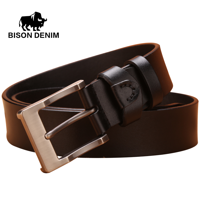 BISON DENIM 100% stylish belts men coffee / brown ...