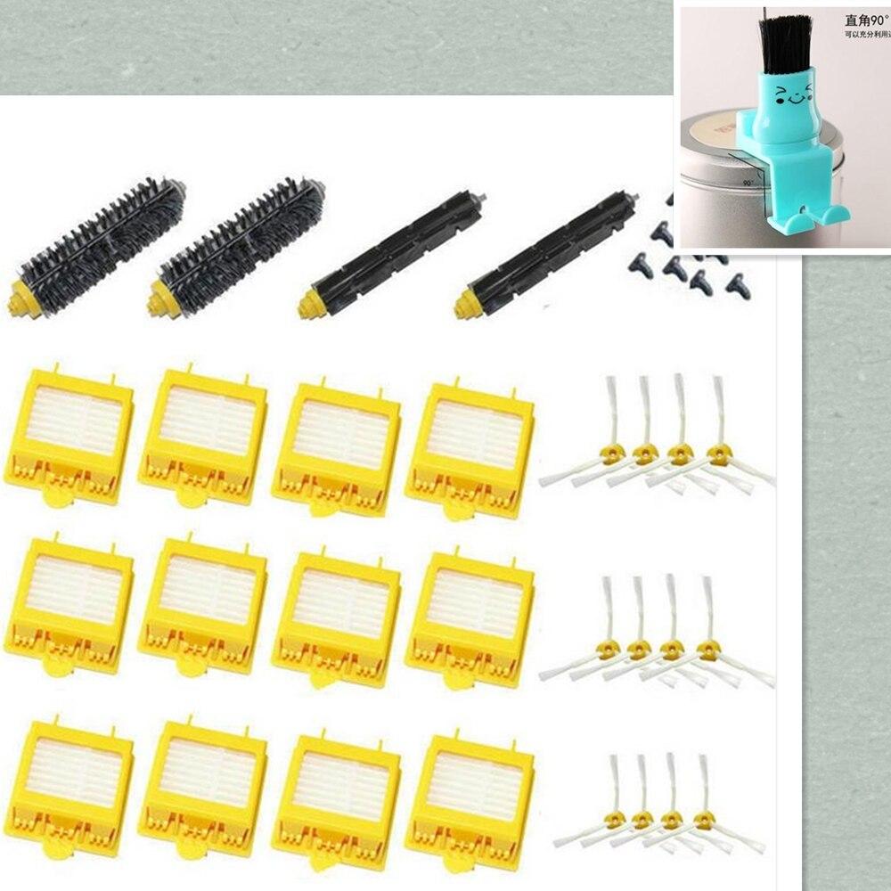 Hepa Filter + Flexible Beater Bristle Brush kit + side brush + screw clean brush kit for iRobot Roomba 700 760 770 780 790 parts<br>