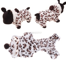 Pets Cats Puppy Clothes Winter Warm Flannel Soft Leopard Print Coat Apparel Pet Clothes #H0VH# Drop shipping(China)
