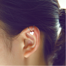 2016 Fashion Silver Gold Color Heart Ear Bone Clip On Earrings Ear Cuff Earrings For Women Girls Wholesale 1 Pc 2E206