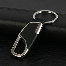 LNRRABC Men Creative Metal Leather Key Chains Rings Holder Purse Bag Car Keyring Fashion Jewelry Trinket Ornament Accessories