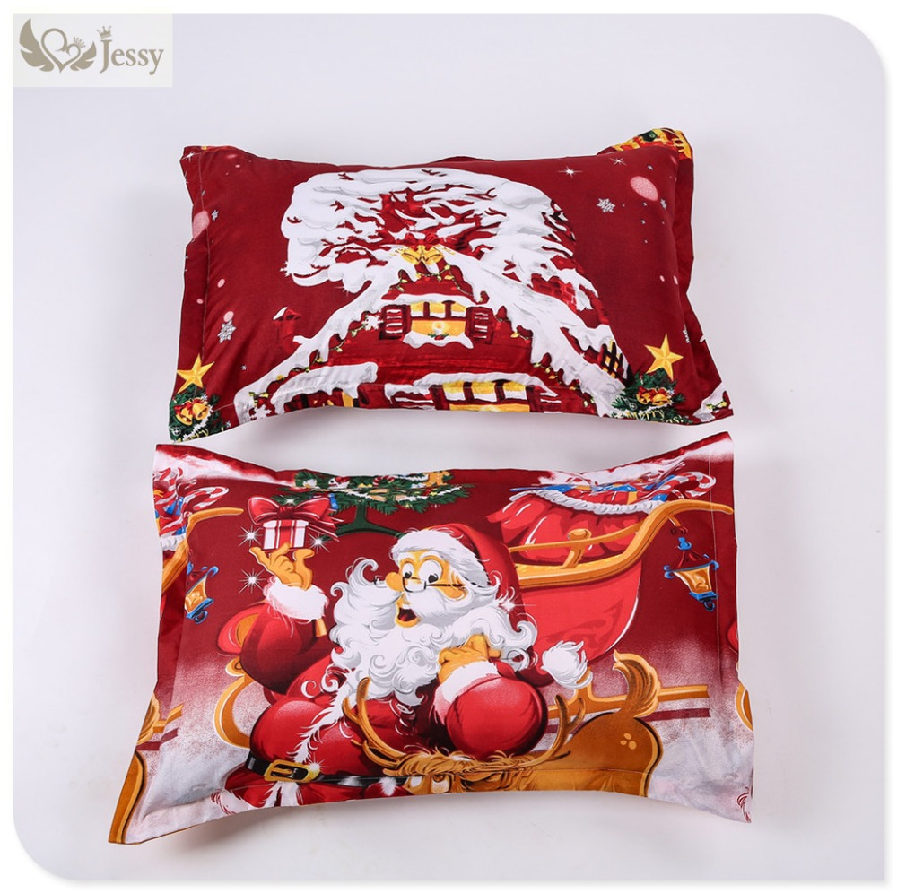 Great For Christmas, Set 4Pcs Christmas Santa Clause, 3D Bedding Set Duvet Cover Set,Sheet, Pillowcase, Sham Covers 26