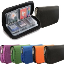 Best Promotion 22pcs CF/SD/SDHC/MS/DS Micro Memory Card Case Storage Carrying Pouch Wallet Bag Holder 6 Colors