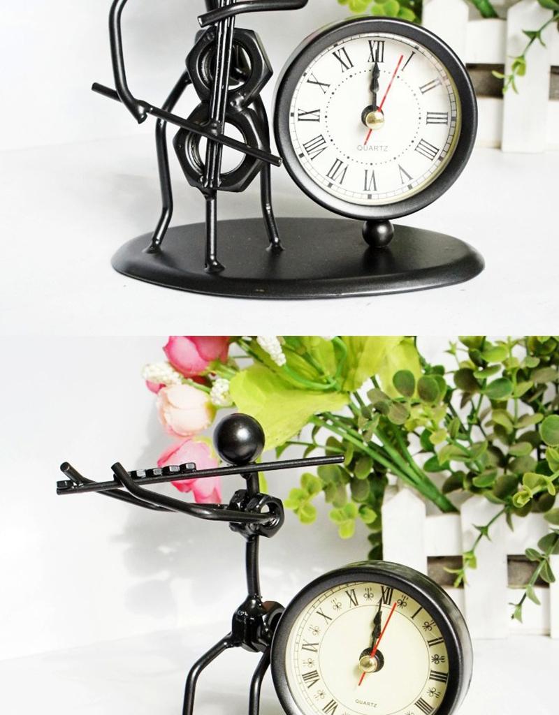 clock bicycle bureau kalender mesa vintage ahşap saat circular wood azan wall clock retro bamboo clock clock with pendulum clock humidity (5)