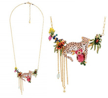 Romantic Tropical rainforest series enamel glaze leopard Necklace & Pendant For Women Jewelry