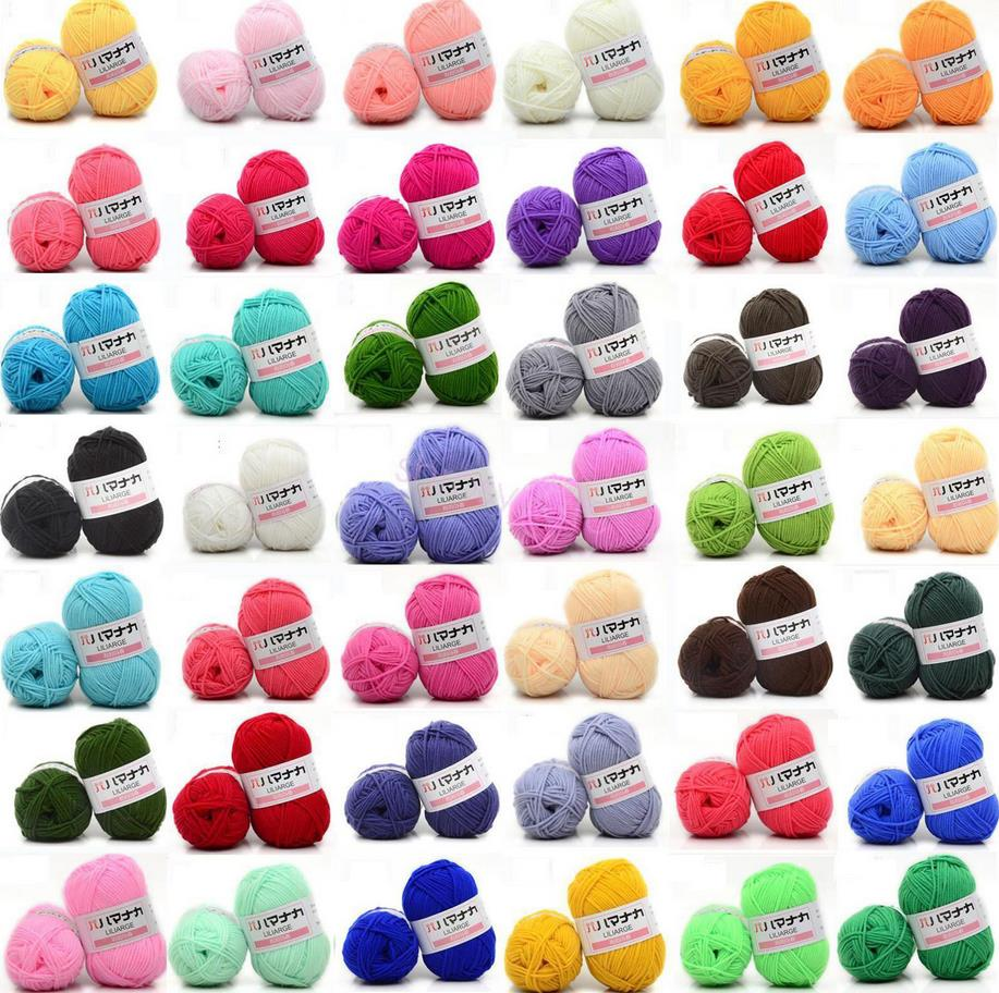Creative 25g DIY Milk Cotton Yarn Baby Wool Yarn Knitting Children Hand Knitted Yarn Knit Blanket Thread Crochet Yarn