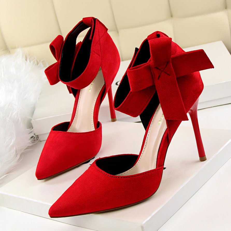 Women Big Bow Tie Pumps Butterfly Pointed Stiletto Shoes High Heels Wedding Shoes Bowknot advisable Cross Strap Zip Stilettos<br><br>Aliexpress
