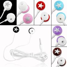 YCDC Cheap+Free Shipping Universal 3.5mm In-ear Star Stereo Earphone For iPhone 3G 3GS 4 4G 4S for HTC G8 G7 4 Colors EH1028(China)