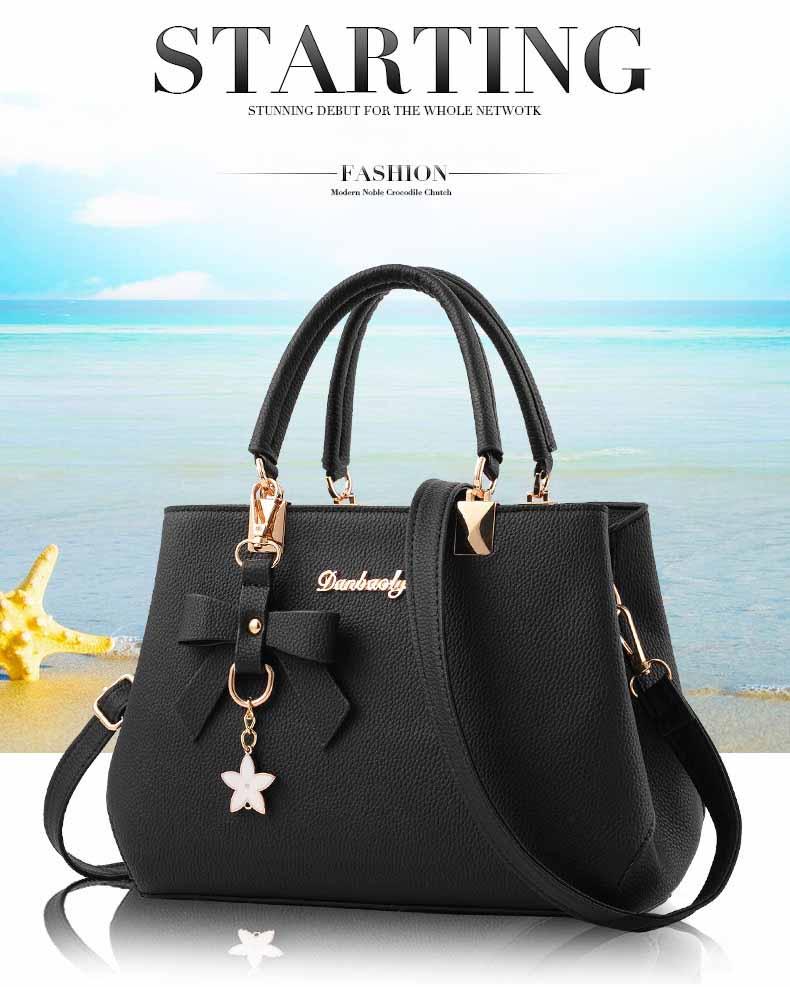 WENYUJH New 18 Elegant Shoulder Bag Women Designer Luxury Handbags Women Bags Plum Bow Sweet Messenger Crossbody Bag for Women 2