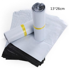 10PCS/LOT 13*26CM White Mail Express Storage Bags Courier Package Courier Envelope Shipping Bag Organizer(China)