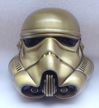 3D Starwars Stormtrooper Helmet Bronze Color Belt Buckle JF-BY45 suitable for 4cm wideth belt with continous stock