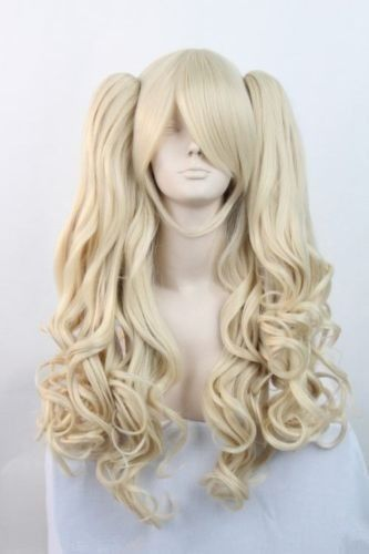 shun Hot heat resistant Party hair&gt;&gt;&gt;&gt;&gt;Hot Lolita Long Blonde Halloween Cosplay Party Curly Full WigAA<br><br>Aliexpress