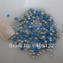 One Bag OD-72-Blue Free Shipping 3D 3x3mm Neon Blue Small Star Metal Stud Shiny Nail Decoration Lovely Outlooking