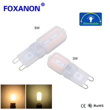 Foxanon Led G9    G9 LED 110V Leds Lamp 3W 5W 220V Led Bulb SMD 2835 Spotlight For Crystal Chandelier Replace 50W 100W Halogen L
