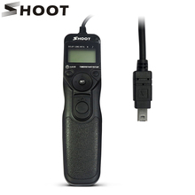 SHOOT MC-DC2 Wired Shutter Release Timer Remote Control for Nikon D3300 D5300 D3200 D750 D7200 D3400 D7100 Digital SLR Camera(China)
