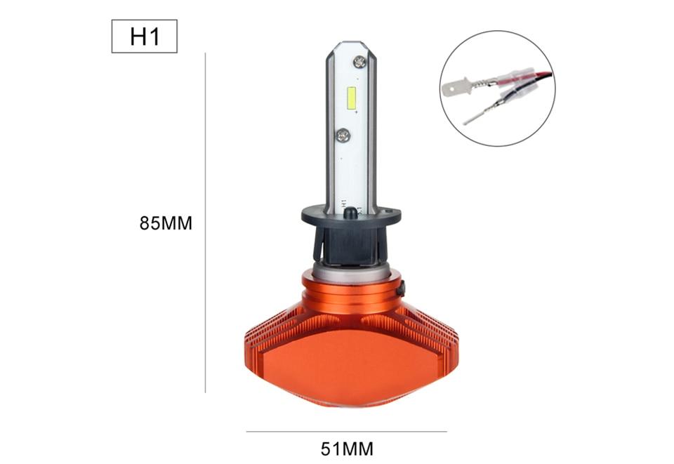 Zdatt AcooSun H4 H7 Led Car Bulb H11 H1 CSP LED Auto Headlight 80W 8000LMSet 9005HB3 9006HB4 H3K Led Fog Light White 6000K 12V 24V (12)