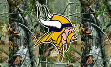 Minnesota Vikings real tree camo Flag 150X90CM NFL 3x5 FT Banner 100D Polyester Custom flag grommets 6038,free shipping