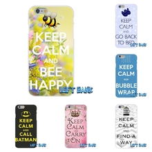 Keep Calm and Carry On Soft Silicone TPU Transparent Cover Case For iPhone 4 4S 5 5S 5C SE 6 6S 7 Plus(China)