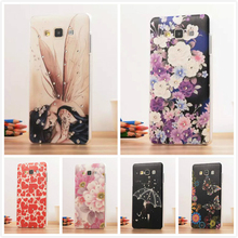 Hard Phone Case For Samsung Galaxy A3 2015 A300 Diamond Print Flower Back Cover For Samsung Galaxy A3 Case plastic Capa Fundas