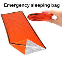 Portable Emergency foil Reusable Waterproof Rescue Space Thermal orange Bag Outdoor Camping Travel Hiking Travel Kits(China)