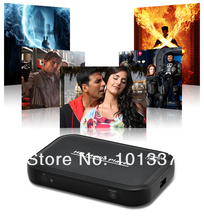 Free shipping!JEDX HD601 Full HD 1080P USB External HDD Media Player with HDMI VGA SD MKV H.264 RMVB WMV with IR Remote control