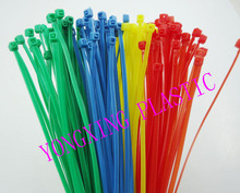 "2016 new 100pcs red yellow blue green 4"" 2.0x100mm Network Nylon Plastic Cable Wire Zip Tie Cord Strap bundle cable(China)"