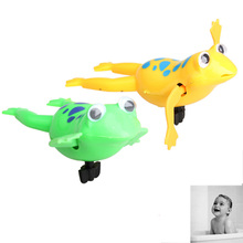 New Wind up Frogman Bath Diver Toy Swimming Frog Baby Kids Bathing Toys Gags FCI#(China)