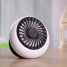 Tuansing Ultra-quiet Rechargeable Portable USB Fan Summer Office Mini Desk Cooling Fan Air Conditioner 3 Hours Working Time