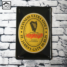 GUINNESS Beer Wine Advertising Paintings Vintage Metal Tin Signs Bar Club Poster Pub Wall Decor Iron Plate Retro Plaque(China)