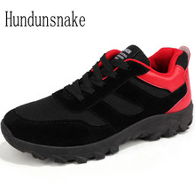 Hundunsnake Outdoor Men Sneakers Black Trail Running Shoes For Men Gym Shoes Athletic Adult Male Sports Shoes Man Krasovki T350(China)