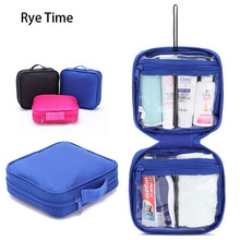 high quality brand mark up cosmetics case beauty waterproof oxford travel portable washing pouch organizer bags in bag wash bags(China)