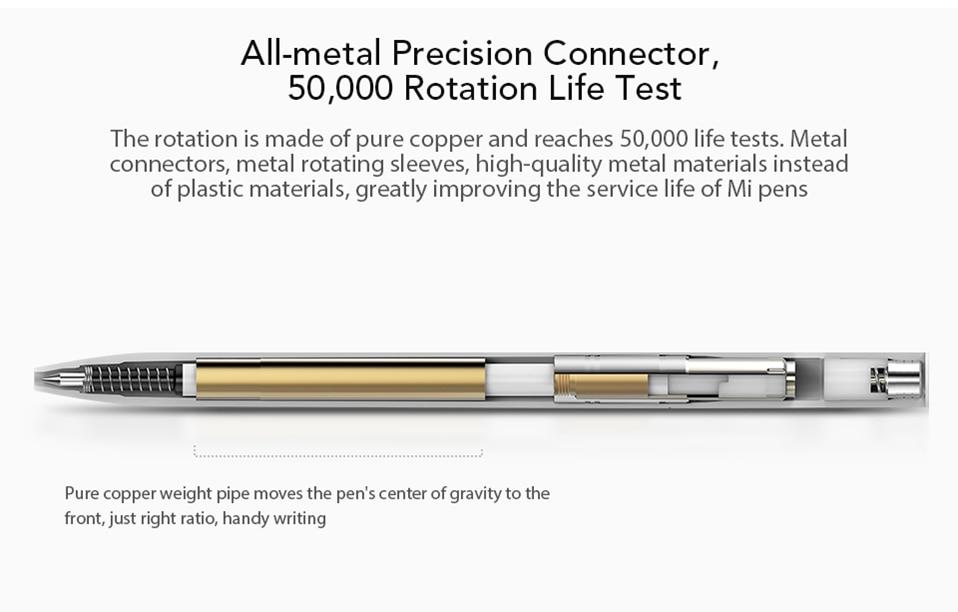 Original-Xiaomi-Mijia-Roller-Pen-with-0.5mm-Swiss-Refill-120-Degree-Rotation-143mm-Rolling-Ball-Pen-White- (10)