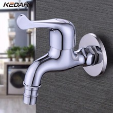 KEDAH High-quality Brass Copper Kitchen Faucet Quick Opening Sngle Cold Tap Washing Machine Crane F242(China)