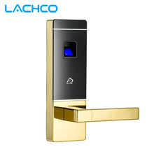 LACHCO SL16-091SG-3 Smart Fingerprint Door Lock Digital Smart Fingerprint Lock Mechanical Key Door Lock Zinc Alloy Shiny Gold(China)