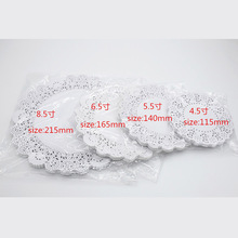 "100 Pcs 4.5""/6.5""/8.5"" White Round Lace Paper Doilies / Doyleys,Vintage Coasters / Placemat Craft Wedding Christmas Table Decora"