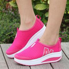 Height Increasing 2016 Summer Shoes Women's Casual Shoes Sport Fashion Walking Shoes for Women Swing Wedges Shoes Breathable